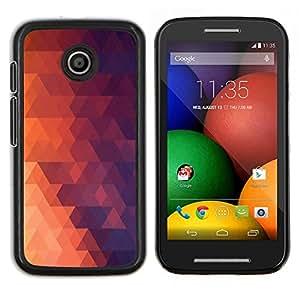 Qstar Arte & diseño plástico duro Fundas Cover Cubre Hard Case Cover para Motorola Moto E (Geometría Red Triangle)