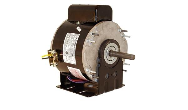 Smith UH1026 1//4 HP TEAO Enclosure Reversible Rotation Ball Bearing Unit Heater Motor A.O 4.9 Amps 1//2-Inch x 1-7//8-Inch