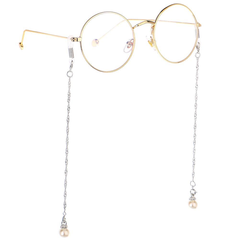 Fauhsto Brillen Kette Perlen Brillenketten Sonnenbrille Brillenband Lesebrillen Brillen Cord Brillenb/ändel Damen Brille Kette Sonnebrillen Band Brille Cords Hals Cord Dekorative Gl/äserkette