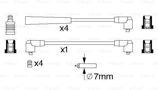 Bosch 986356719 Zndkabel