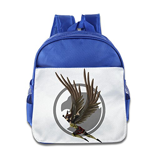 XJBD Custom Cute Hawkgirl Superhero Teenager School Bagpack Bag For 1-6 Years Old RoyalBlue