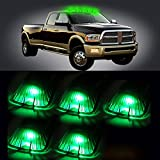 89 chevy k1500 cluster - Scitoo 5 Pcs Smoke Roof Running Light Cab Marker Cover + T10 W5W 194 168 Green LED Bulb for Chevrolet GMC C1500 C2500 C3500 K1500 K2500 K3500