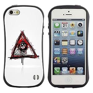 Suave TPU GEL Carcasa Funda Silicona Blando Estuche Caso de protección (para) Apple Iphone 5 / 5S / CECELL Phone case / / Evil Bleeding Eye Illuminati /