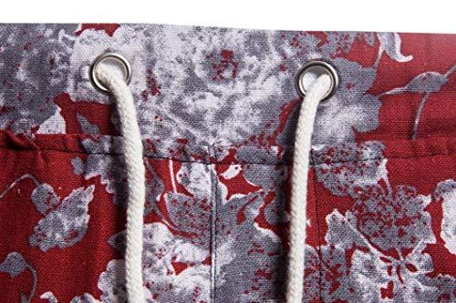 Realdo Clearance Mens Fashion Floral Print Trousers Sweatpants Elastic Waist Creative Comfy Pants(Medium,Red) by Realdo (Image #3)