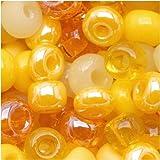 Czech Seed Beads 6/0 ''Daffodil Yellow'' Mix Lemon (1 Ounce)