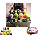 8 PREMIUM BATH BOMB PLUS 4 ESSENTIAL OILS HOLIDAY GIFT BOX . Handmade and luxurious. Super fizzy and fragrant with Extra cocoa & Shea butter for moisturizing your skin with 100% Natural ingredients