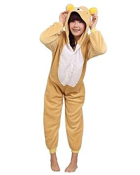Keral Kigurumi Pijamas Adulto Anime Cosplay de Halloween Traje Outfit_Kuma_S