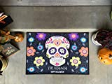 Qualtry Happy Halloween Door Mat Indoor and Outdoor Decor 36'' x 24'' - Personalized by Last Name (Large Size, Hammond Design)