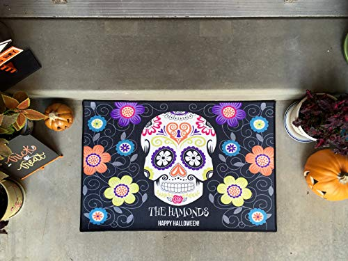 Qualtry Happy Halloween Door Mat Indoor and Outdoor Decor 36'' x 24'' - Personalized by Last Name (Large Size, Hammond Design) by Qualtry