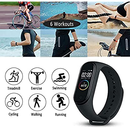 Activity Tracker, Fitness Tracker with Heart Rate Monitor,5ATM Water Resistance HD Touch Screen Smart Watch,Sleep… 5