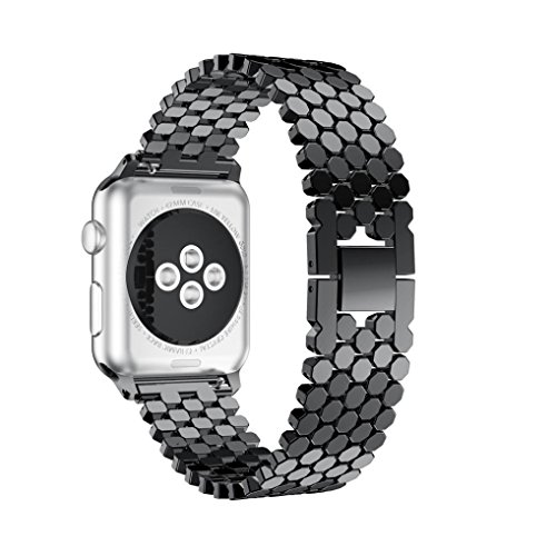 GBSELL Fashion Sports Stainless Steel Watch Band Replacement Strap for iwatch Apple Watch 38MM