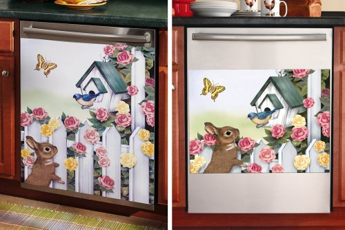 Spring Themed Magnetic Kitchen Dishwasher Cover Small