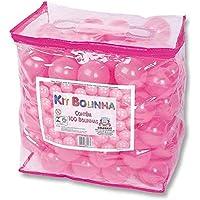 Kit Bolinhas com 100 Unidades Braskit Rosa