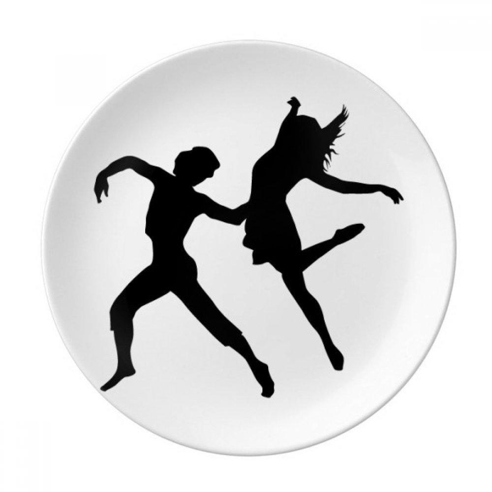 Duet Dance Dancer Sports Performance Dessert Plate Decorative Porcelain 8 inch Dinner Home