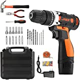 Jaer Cordless Power Drill and Home Tool Kit,...