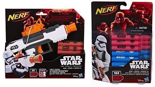 Bundle: Star Wars Nerf Episode VII First Order Stormtrooper Blaster (1) Star Wars Nerf Episode VII Dart Refill (1) - Star Wars Toys Nerf
