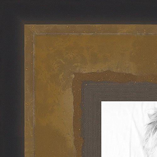 ArtToFrames 24x34 inch Bronze and Ebony Edged Two Tone Wood Picture Frame, 2WOMOM80656-24x34