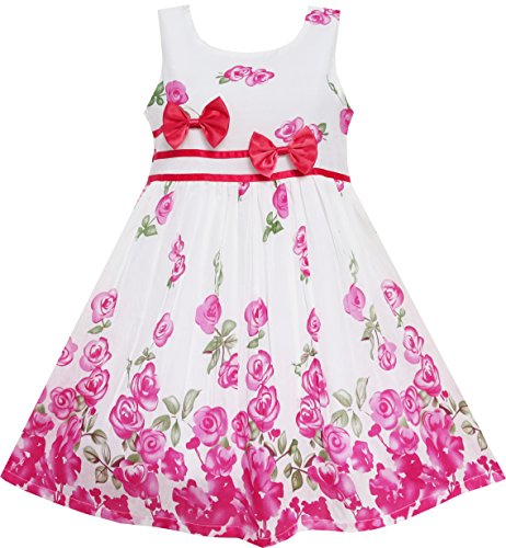 EY41 Sunny Fashion Little Girls' Dress Rose Flower