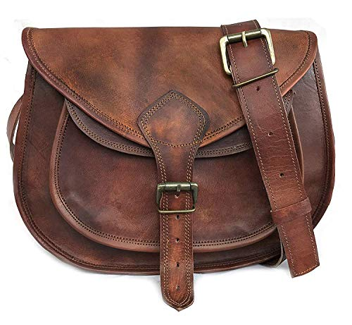 (Crossbody Bags for Women Saddle Bag Purse Handbags Gift for Young Women & Teen Girls | Genuine Leather Satchel Shoulder Bags)