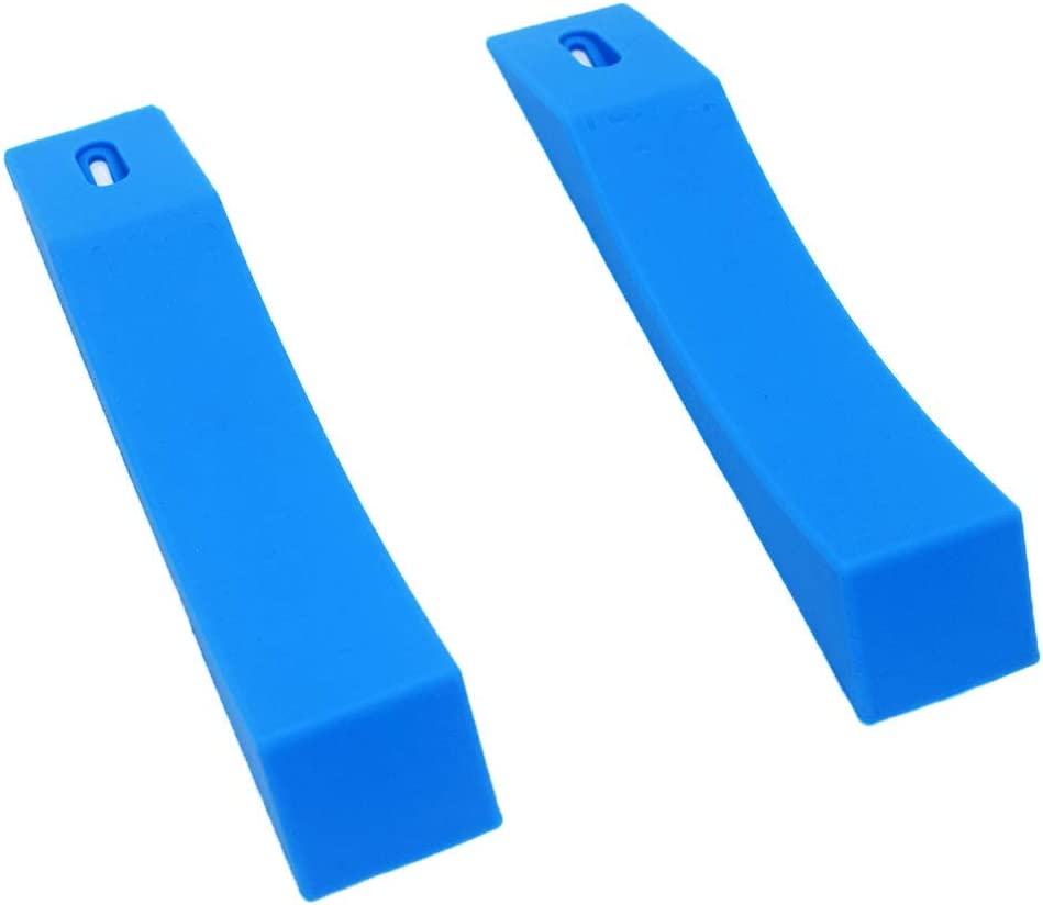 Qiban Deadlift Barbell Jack, Deadlift Jack Alternative (1 Pair) Effortless Load or Unload Weight Plates for Perfect for Deadlifts, Weightlifting,Powerlifting, Crossfit & Home Gym (Blue)