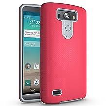 LG G3 Case, LG G3 Hybrid Case, LG G3 Shockproof Case, Hybrid Rugged Case Ballistic Nylon Tough Case Anti Slip Cover for 5.5'' LG G3 [NOT fit 5.0'' LG G3 S / 5.5'' LG G3 Stylus]