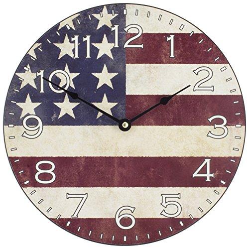 Lacrosse La Crosse 404-2631F 12 in. American Flag Décor Wall Clock
