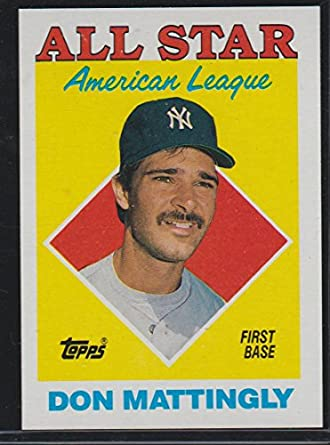 1988 Topps Don Mattingly Yankees All Star Baseball Card 386 At