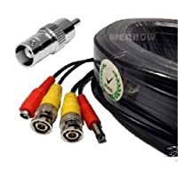 Wennow Premium Quality 200 Feet Video and Power Cable for Q-See CCTV Security Cameras