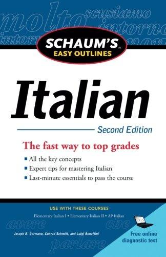 Schaum's Easy Outline of Italian, Second Edition (Schaum's Easy Outlines)