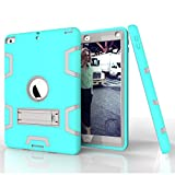 "PC Hardware : New iPad 9.7"" 2017 Case, Jeccy Rugged Full-body Shock Proof Hybrid Heavy Duty Armor Defender Protective Case with Kickstand,Silicone Skin Case for Apple New iPad 9.7"" 2017 Released"