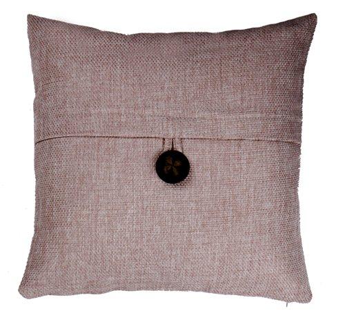 Loft Collection Bold Button Decorative Pillow Replacement Cover, Khaki