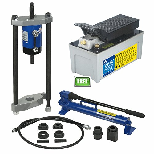 OTC-4240AP - OTC4240A-King Pin Pusher & OTC2510A-Air Hydraulic Foot Pump 10,000 PSI (Air Hydraulic Pump With Cylinders)