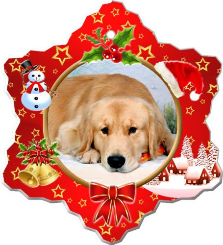 Golden Retriever Porcelain Holiday Ornament