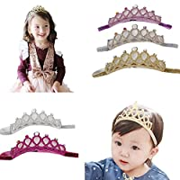 Mookiraer® 5PCS Baby Girls Crown Headbands Toddler Princess Hair Bands