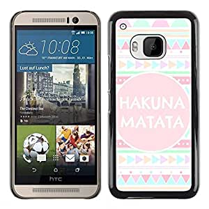 Plastic Shell Protective Case Cover || HTC One M9 || Pattern Text Quote Pink @XPTECH