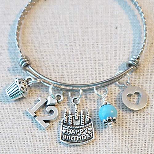 Amazon 12th BIRTHDAY GIRL Birthday Charm Bracelet