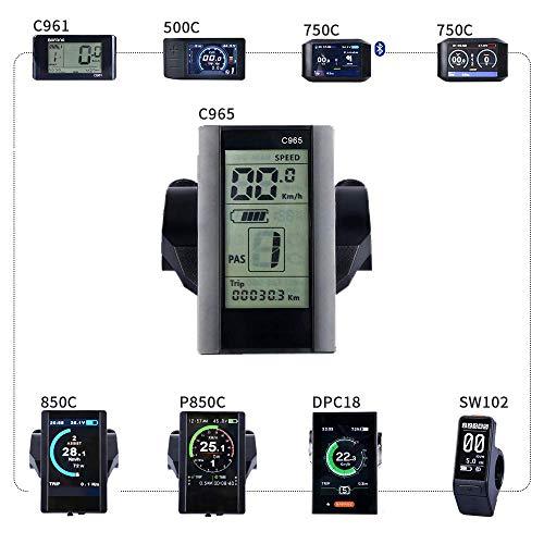 BAFANG HMI Mid Motor Display Electric Bike Odometer Bike Speed Meter Mid Drive Motor(C965)