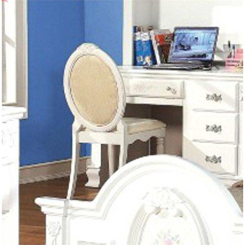 ACME 01689 Flora Chair, White Finish - Flora White Finish