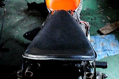 部品屋K&W GRASS TRACKER BIGBOY (グラストラッカービッグボーイ) 専用ソロシートKIT リジットタイプ (本革サドルシート) 黒 P38065   B01G1M85Q6