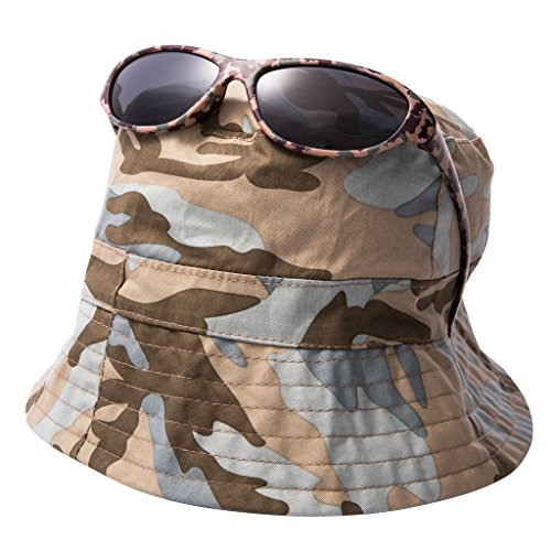 EYEGUARD UV400 Boy's Kids Sunglasses and Jungle Camouflage Sun Hats Combo Children(5-12 years (Camouflage Kids Sunglasses)