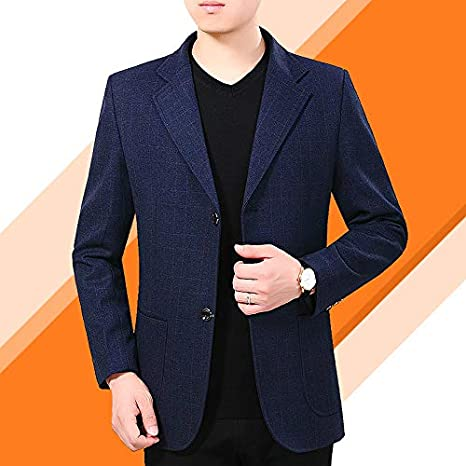 QUHS Mens Casual Business Plaid Spring//Autumn Long-Sleeve Classic Work Shirt