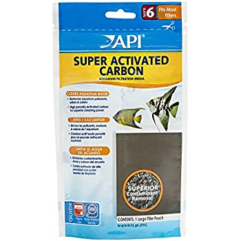 API SUPER ACTIVATED CARBON Aquarium Canister Filter Filtration Pouch 1-Count