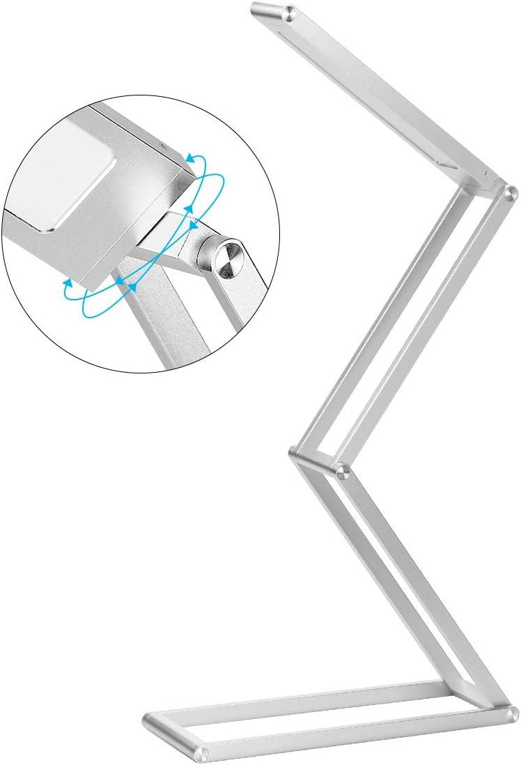 Azul Gris Oscuro Cabezal de L/ámpara Giratorio 3 Modos Regulables para Dormitorio L/ámpara Recargable Port/átil Inal/ámbrica USB Recargable Camping Universidad ELZO L/ámpara Escritorio LED Oficina