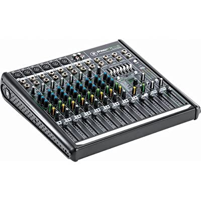 Mackie ProFX12v2 12-Channel Sound Reinforcement Mixer with Padded Nylon Mixer/Equipment Bag & PB-S3410 3.5 mm Stereo Breakout Cable, 10 feet Bundle