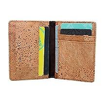 Boshiho® Eco-friendly Cork Credit Card Organizer Wallet Slimfold Card Case