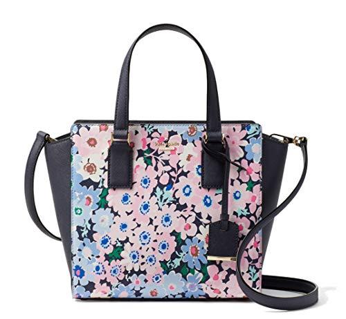 Kate Spade York Cameron Street Daisy Garden Small Hayden Leather Satchel Bag Navy Pink Multi