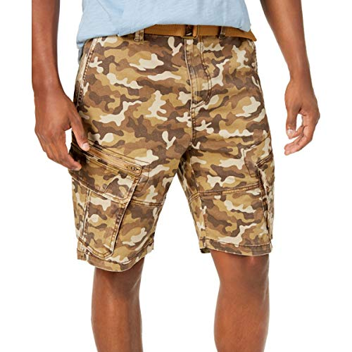 AMERICAN RAG CIE Men's Relaxed Fit Camouflage Belted Cargo Shorts from AMERICAN RAG CIE