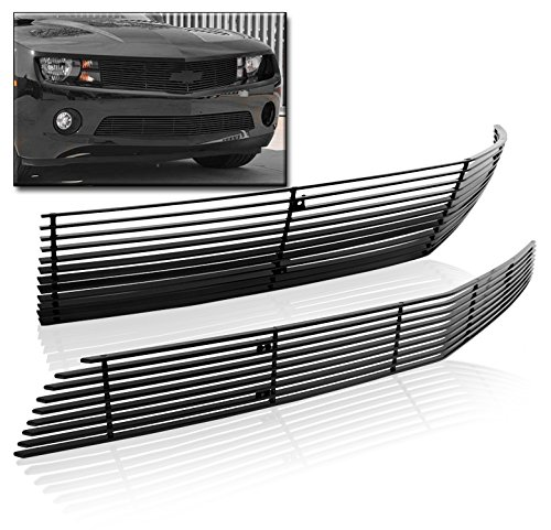 ZMAUTOPARTS Chevy Camaro LS LT V6 Front Upper+Bumper Billet Grille Grill Combo Phantom