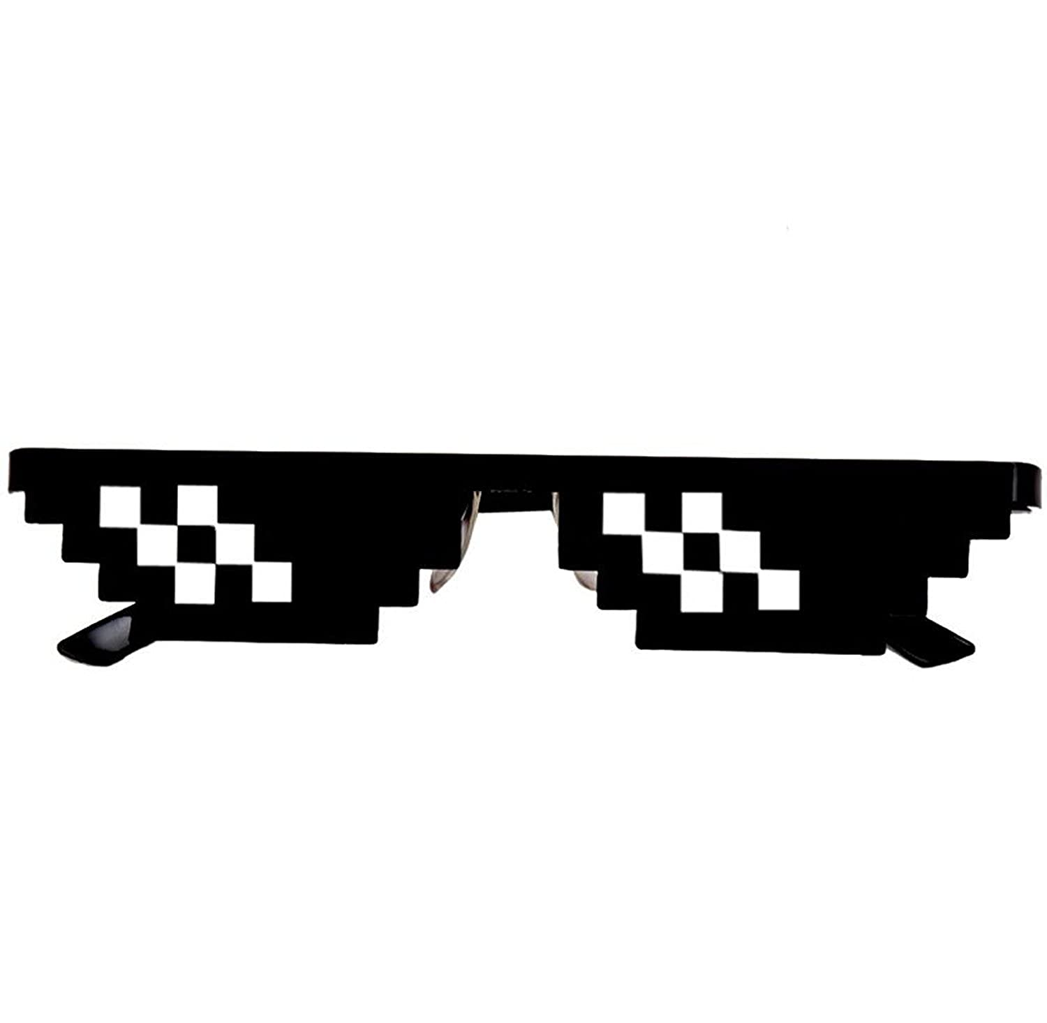 Malloom 2017 New Style Thug Life Glasses 8 Bit Pixel Deal With IT Sunglasses Unisex Sunglasses Toy