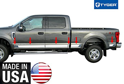 Made in USA!! TYGER Works With 17-18 Ford SuperDuty Crew Cab Rocker Panel 6.5' Bed BBL 4 3/4